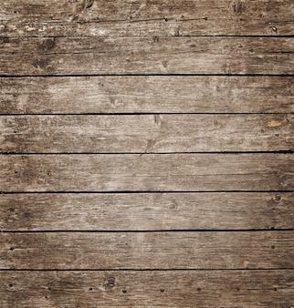 Painel de madeira vintage quadrado com tábuas horizontais e fendas