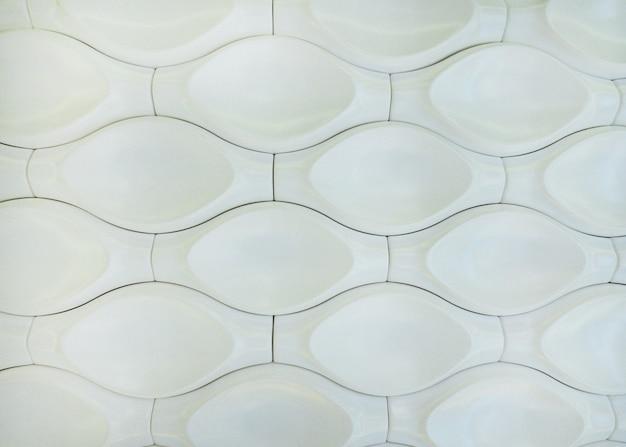 Painel de parede decorativo interior d branco com forma geométrica incomum marrom fundo metálico com p ...