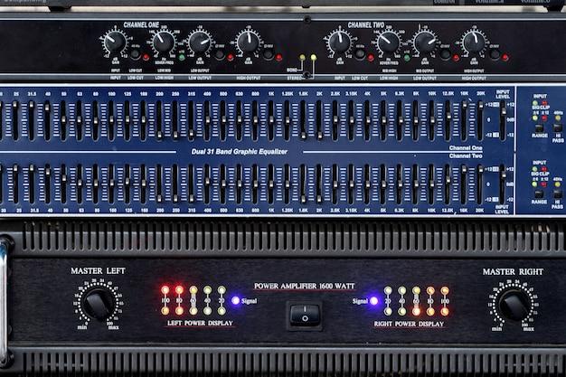 Painel elétrico amplificador e equalizador