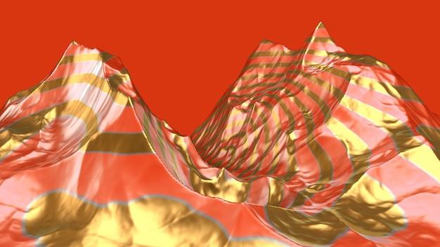 Paisagem abstrata. ilustração 3d, renderização em 3d.