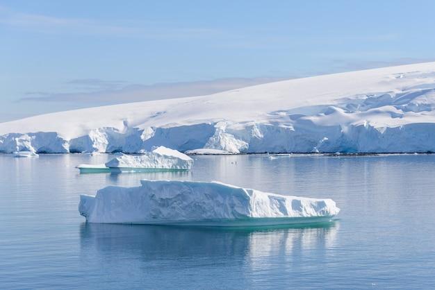 Paisagem antártica com iceberg