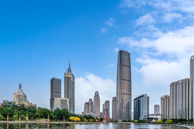 Paisagem arquitetônica da cidade de tianjin na china