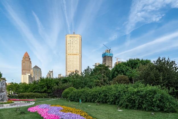 Paisagem arquitetônica da cidade moderna de tianjin