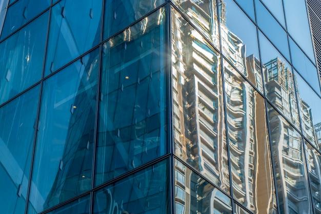 Paisagem arquitetônica do edifício comercial na cidade central