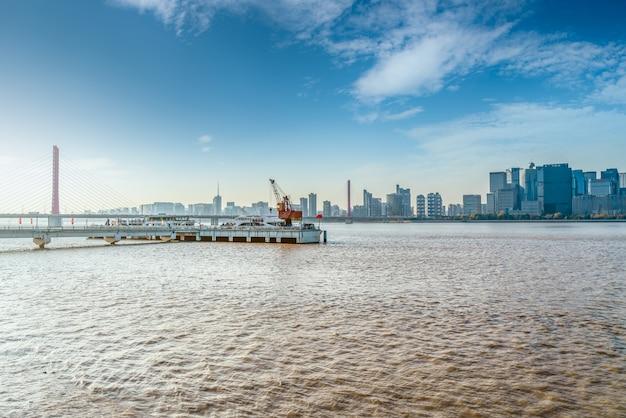 Paisagem arquitetônica moderna de hangzhou qianjiang new town cbd
