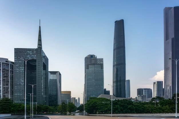 Paisagem arquitetônica urbana moderna de guangzhou, china