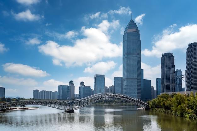 Paisagem arquitetônica urbana moderna de shaoxing china