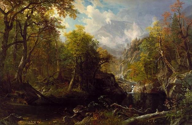 Paisagem artístico bierstadt pintura albert