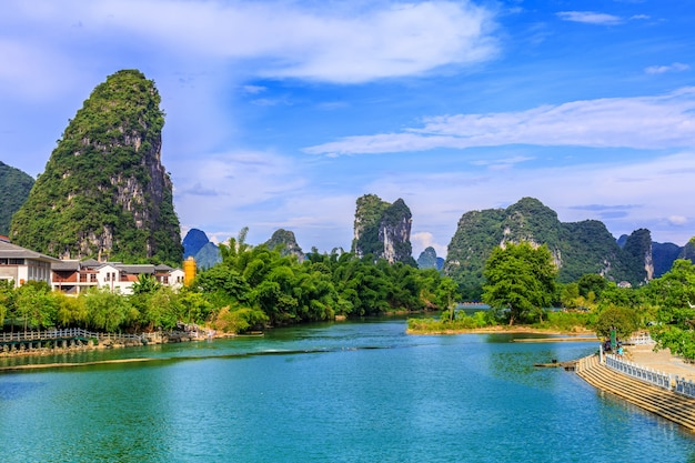Paisagem asiática verde linda