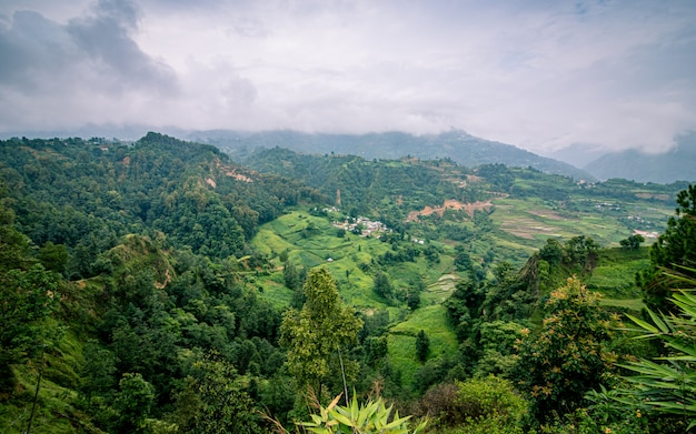 Paisagem bonita paisagem de lalitpur, nepal.