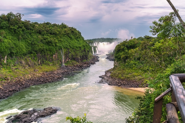 Paisagem, com, a, iguazu, cachoeiras, em, argentina