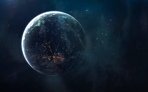 Paisagem cósmica, belo papel de parede de ficção científica com espaço profundo sem fim. elementos desta imagem fornecidos pela nasa