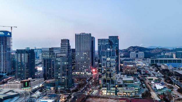 Paisagem da arquitetura da cidade de qingdao na china