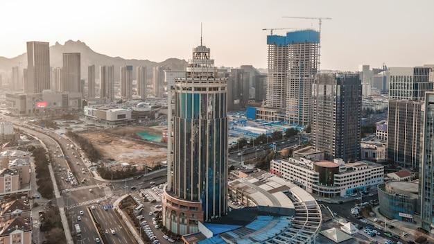 Paisagem da arquitetura da cidade de qingdao na china Foto Premium
