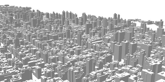 Paisagem da cidade arranha-céus edifícios altos arquitetura panorama vida na cidade