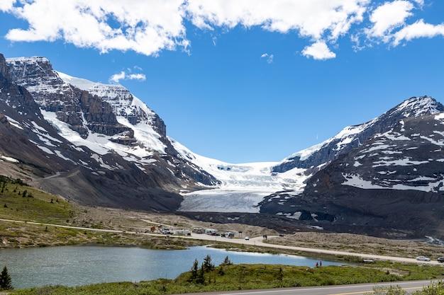Paisagem da geleira athabasca