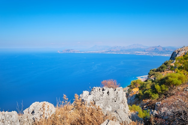 Paisagem da ilha da sicília