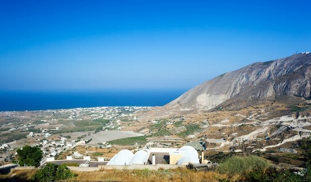 Paisagem da ilha de santorini