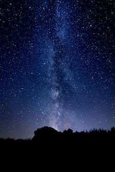 Paisagem da noite estrelada