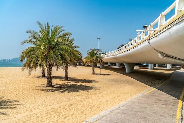 Paisagem da ponte rodoviária do mar de xiamen
