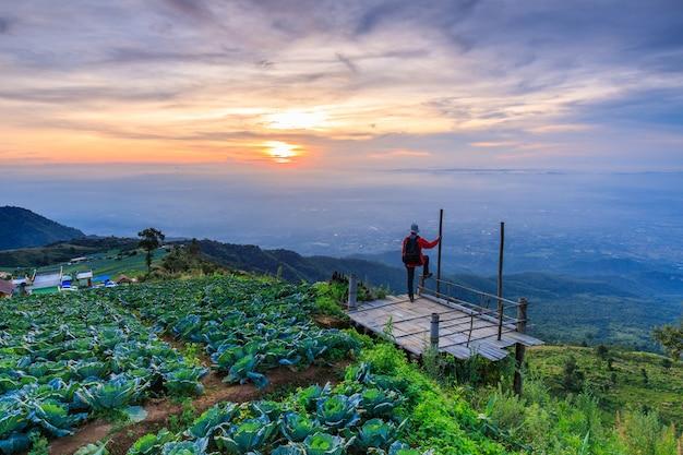 Paisagem da província de phu- tub-berk phetchabun, tailândia.