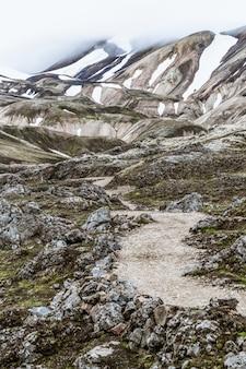 Paisagem das terras altas da islândia landmannalaugar