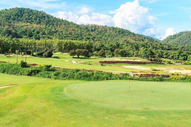 Paisagem de campo de golfe
