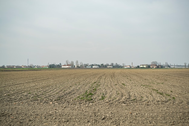 Paisagem de campo pronta para semear a safra