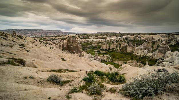 Paisagem de cappadocia goreme goreme, cappadocia, turquia.