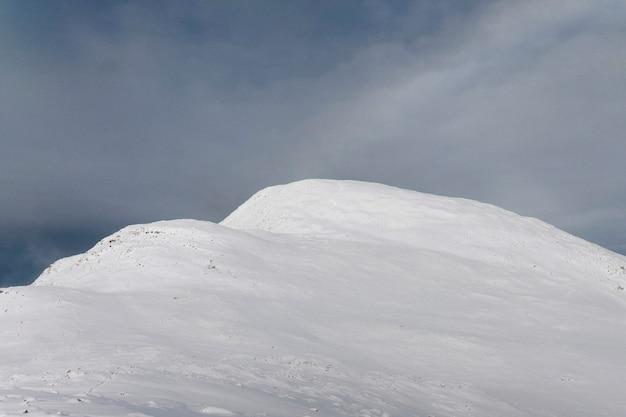 Paisagem de inverno coberto de neve