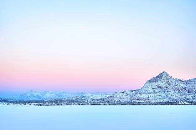 Paisagem de inverno do sul de utah