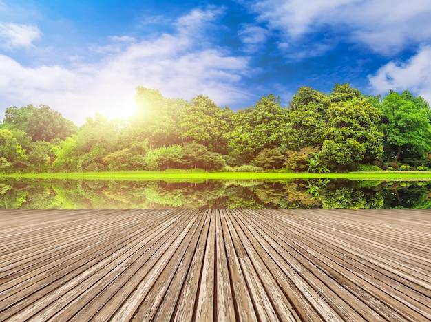 Paisagem de montanhas leves produtos naturais parques ensolarado