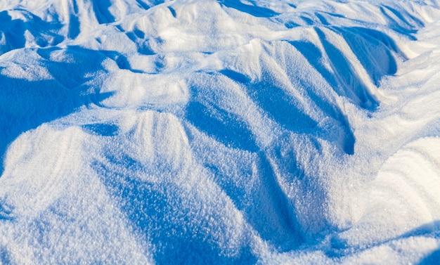 Paisagem de neve congelada