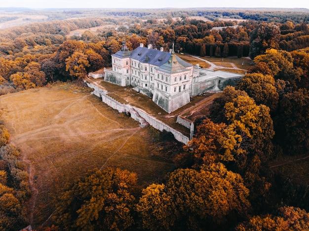 Paisagem de outono com um castelo