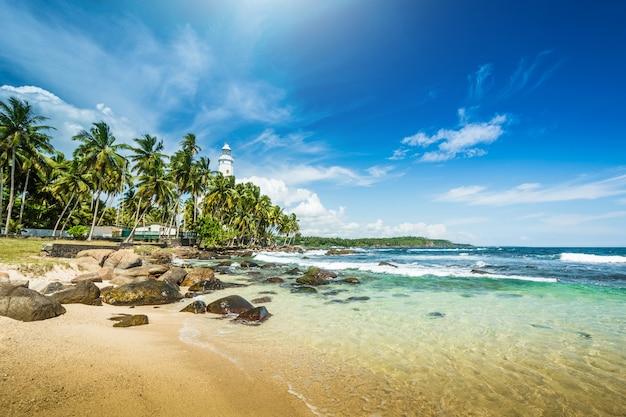 Paisagem de praia bonita no sri lanka