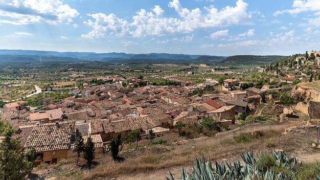Paisagem de toda a aldeia la fresnada matarraa teruel espanha