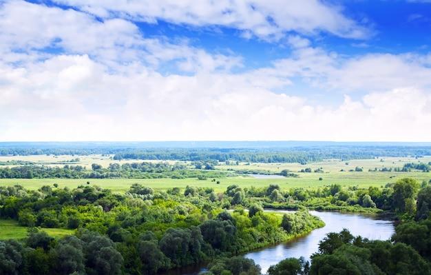 Paisagem de verão com rio