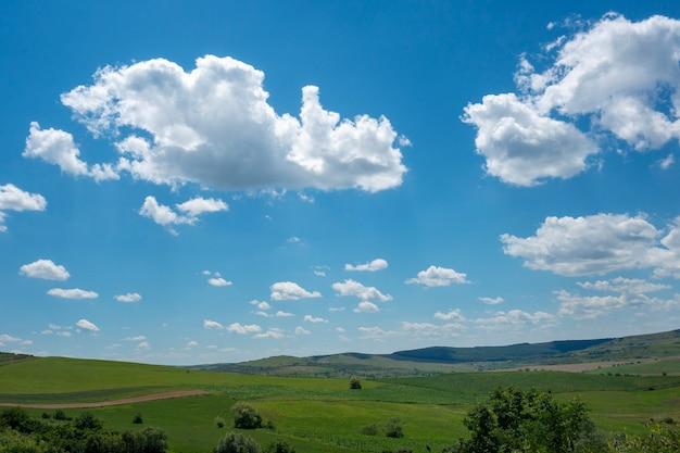 Paisagem de verão em bucovina, roménia