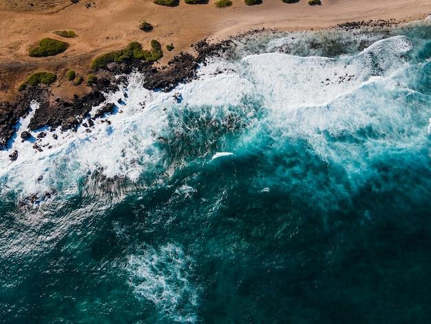 Paisagem deslumbrante do havaí com oceano