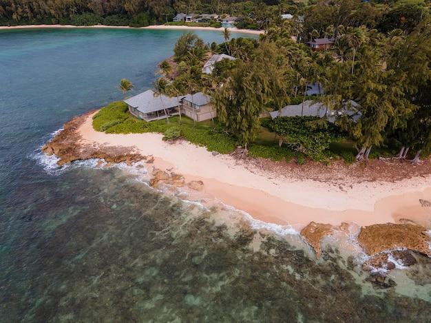 Paisagem deslumbrante do havaí com praia
