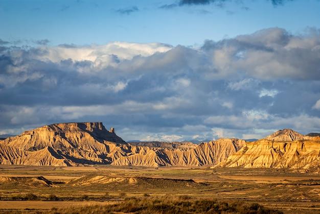 Paisagem do deserto de bardenas, tudela, navarra, espanha