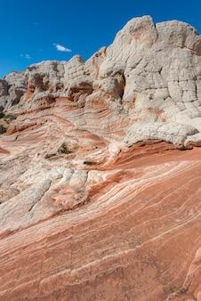 Paisagem do deserto de rocha, bolso branco no arizona