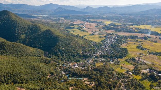 Paisagem do distrito de pai mae hong son tailândia