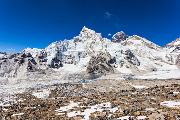 Paisagem do everest, himalaia