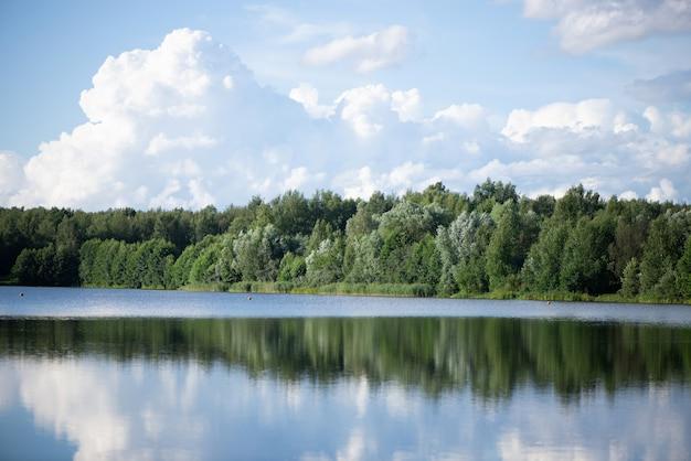 Paisagem do lago de verão