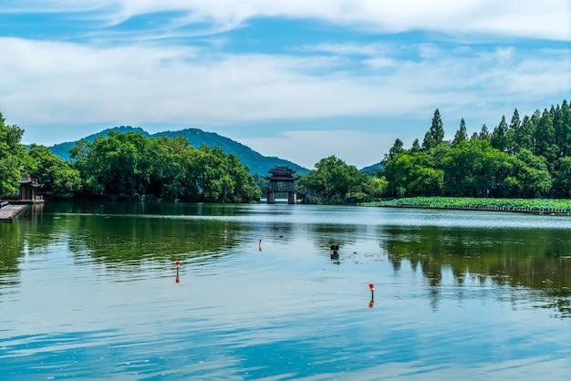 Paisagem do lago oeste em hangzhou