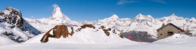 Paisagem do panorama do pico de matterhorn