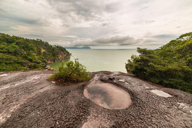 Paisagem do parque nacional bako bornéu malásia