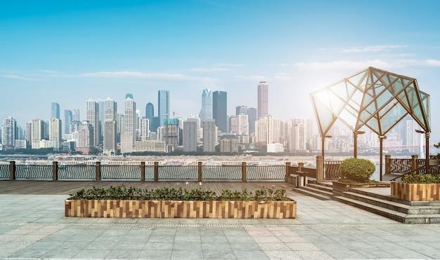 Paisagem e horizonte da arquitetura da cidade de chongqing