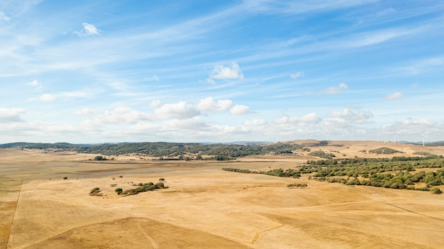 Paisagem incrível com terra seca